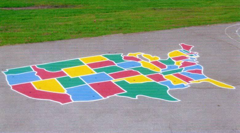 U S Playground Map Stencil USA Map Stencil EZ Stencils How To - Michaels us map